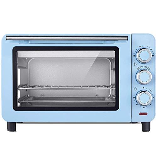 MYPNB Forno Elettrico, 15L Indipendente capacità Regolazione della Temperatura 60 Minuti Timer Range di Temperatura 100-230 , Forno a convezione Elettrico Tostapane (Color : Blue)