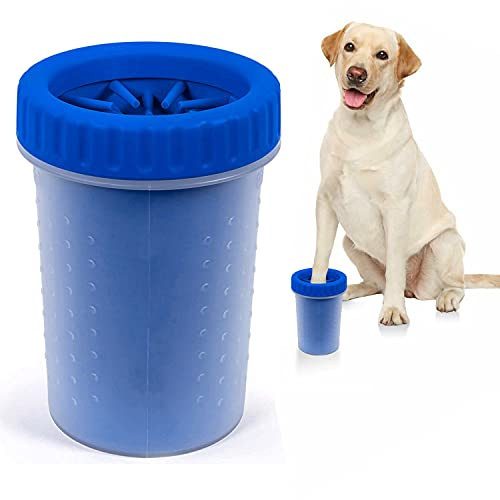 Portable Dog Paw Cleaner, Upgrade 2 in 1 Dog Paw Washer Cup,Dog Brush Dog Grooming Dog Cleaning Paw...