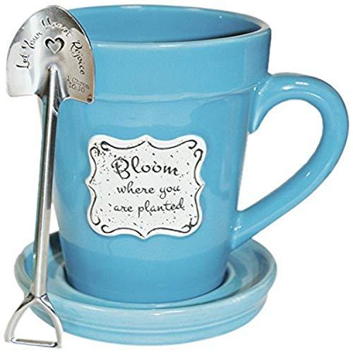 Divinity Boutique 22864 bloempot Bloom-Blue (lepel met letter), meerkleurig