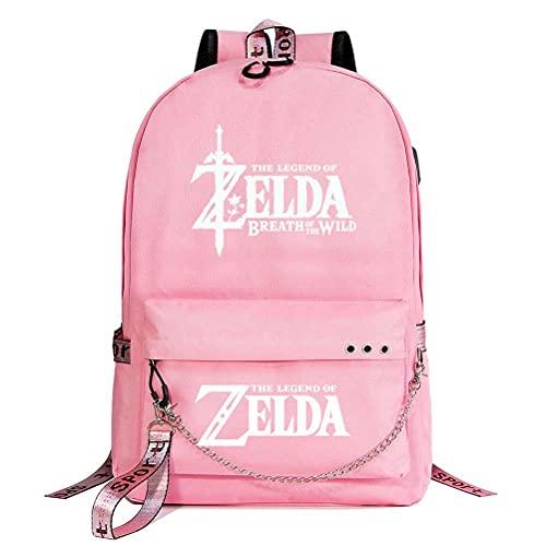 The Legend of Zelda Anime Starry Sky Lightning Plaid Prints Mochila Daypack Laptop Bag Bolsa de la universidad