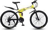 YIHGJJYP Bicicleta De Montaña 26in 24 Velocidad Bicicletas para el Bastidor suspensión Adultos Ligera Completa Tenedor del Freno Disco,Set-2