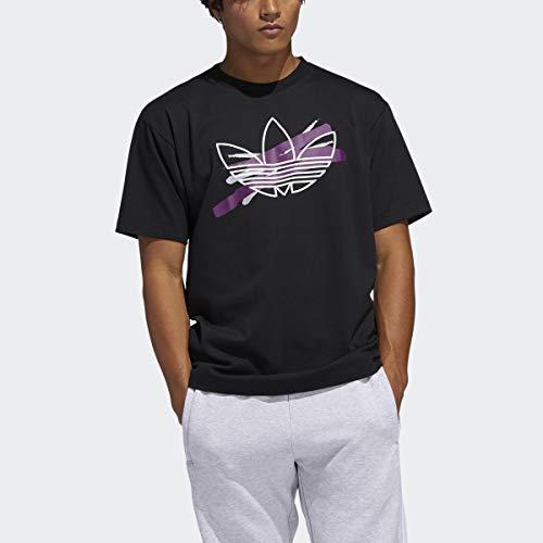 adidas Originals Men's Paint Brush Trefoil Tee Black Small