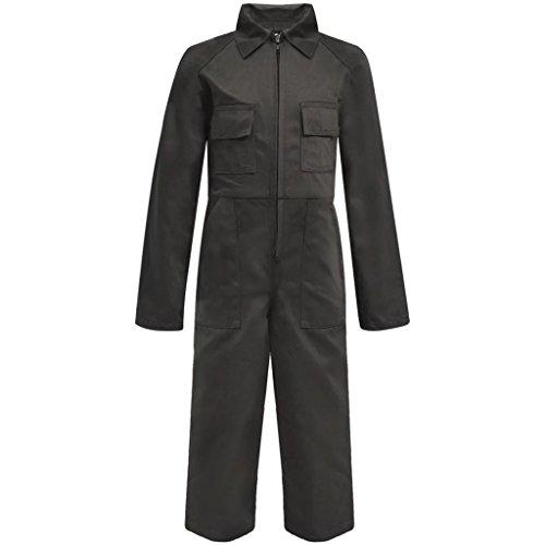 vidaXL Kinder Arbeitsoverall Latzhose Arbeitshose Kinderhose Größe 158/164 Grau