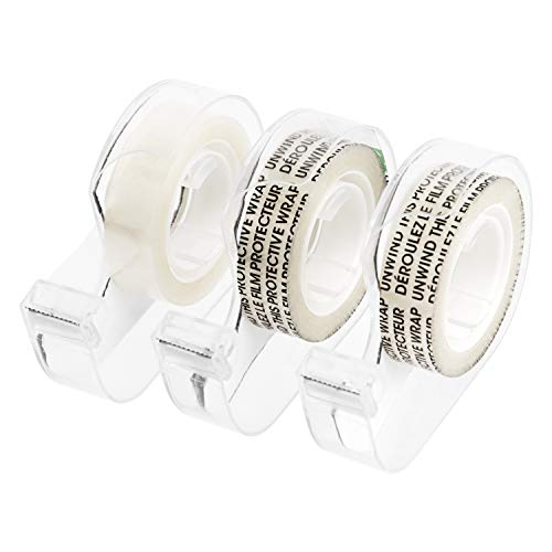 Amazonbasics Double Sided Tape with Dispenser, Narrow Width, Engineered for Bonding, 1/2' x 7 yds., 3/Pack Caddy