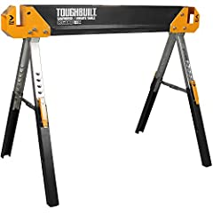 HEAVY DUTYFOLDING SAWHORSE— Constructed from 100 percent high-grade steel, this sawhorse is rugged and capable for your most demanding jobs. Alone it has an incredible 1300 lb. capacity. When paired with a second table, it has a 2600 lb. capacity p...