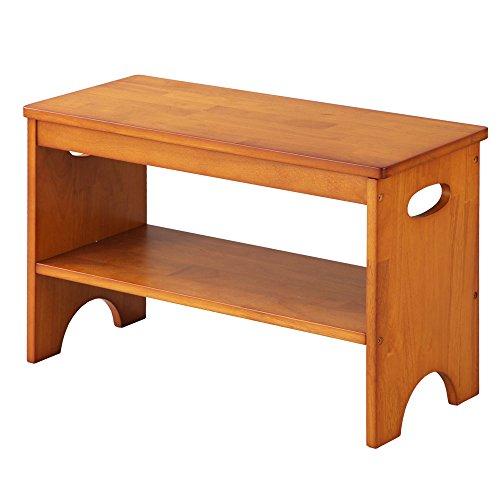 ぼん家具 玄関ベンチ 収納付き 天然木 チェア 玄関椅子 玄関 収納 長椅子 腰掛け ブラウン