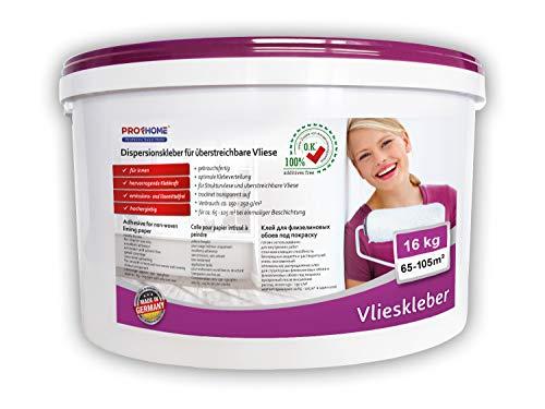 Vlieskleber Profhome Fertig-Kleber für Malervlies Renoviervlies Anstrichvlies Vlies Gewebe-Tapeten 16 kg max 105 qm