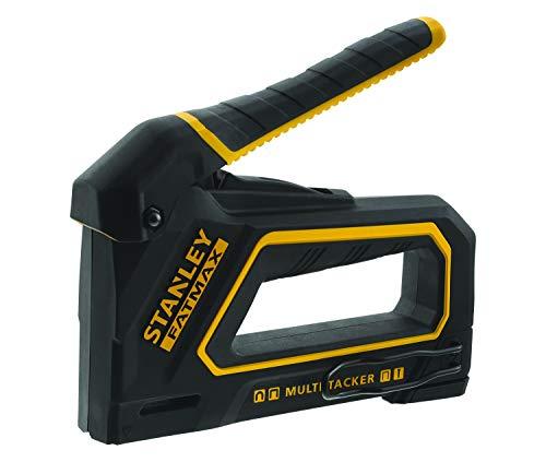 Stanley FMHT0-80550 FMTH0-80550 Fatmax 4-in-1 Handtacker und Nagler (vieliseitig einsetzbar, für Klammern, Rundklammern und Versenknägel, sehr leichtgängig, hohe Präzision, handlich und mobil)