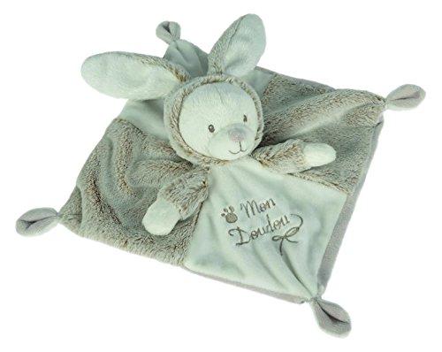 Simba 6305793852 - Nicotoy Baby Schmusetuch Hase Laline 30 cm grau
