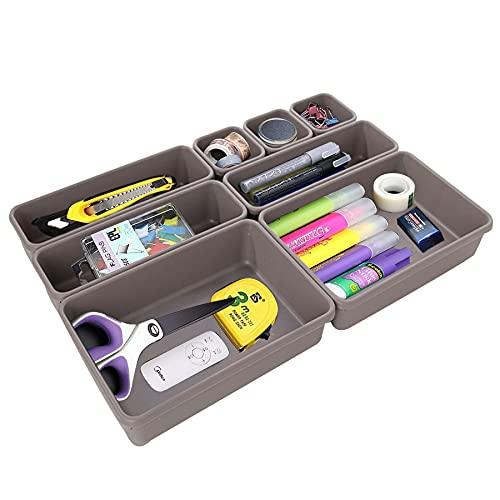 8 cajones organizadores, lavables, organizador de maquillaje, caja de almacenamiento multifuncional, para la oficina y el hogar, caja de almacenamiento para el hogar