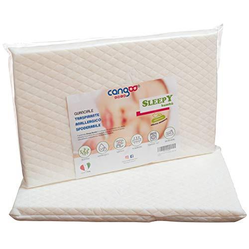 Cangoo Care© Matratze für Reisebett, 60 x 120 cm, abnehmbarer Bezug, kompakt, aufrollbar, Tragetasche mit Tragegriff aus Seil