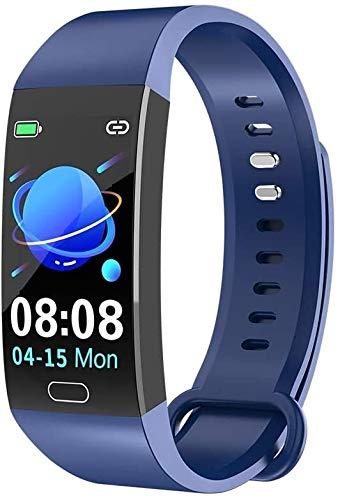WUZHOOA Pulsera inteligente RD11 de 2,9 cm, pulsera deportiva con frecuencia cardíaca, presión arterial, monitoreo de oxígeno en sangre, IP67, resistente al agua, color rojo