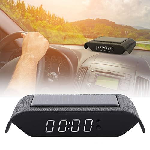 Reloj digital de temperatura del tiempo del automóvil, reloj digital del automóvil de ahorro de tiempo, materiales de alta calidad para el trabajador de mantenimiento del conductor del(white)