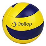 Dellop Tornado Pelota de Voleibol Suave para Principiantes, Tanto para Interiores como Exteriores, sin Aire, 6 Pulgadas, Azul y Amarillo