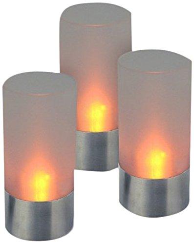 Hartig + Helling 98694 39 Set de 3 Bougies Chauffe-Plats LED