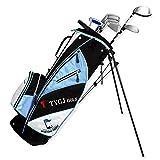 Golf Stand Bag Golftasche für Herren Stehen Bag Standbag/Tragebag/Reisebag mit Automatischen Klappfüssen,Blau