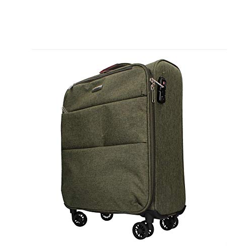Trolley piccolo 4R. JAGUAR DENIM 53x38x20 cm.VERDE