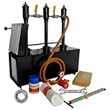 Simond Store Propane Forge Triple Burner w/1 Door, Blacksmithing Forge for Knife Making Forging Tools and Equipments