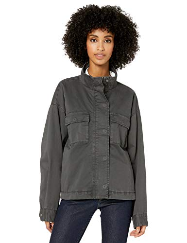Goodthreads Cropped Utility Jacket Outerwear-Jackets, Gris Oscuro, US (EU XS-S)