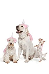 unicorns are definitely in this year and your dog will represent in style with this new pink unicorn dog costume in three sizes small medium large