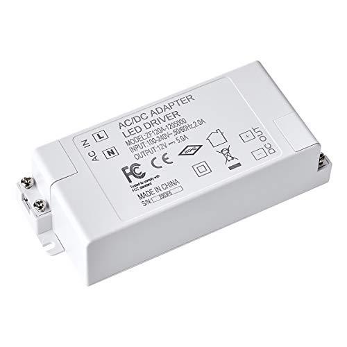 LED Trafo 12V, LED Transformator DC 12V 60 Watt LED Mini Trafo Netzteil Treiber Driver Niedervolt für G4, GU4, GU5.3, MR16, MR11 Leuchmittel LED-Lampen