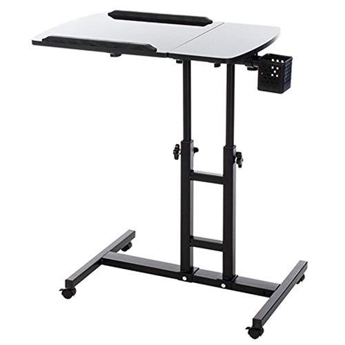 Laptop Bureau, Bed Leren Met Huishoudelijke Lifting Opvouwbare Bewegende nachtkastje Eenvoudige Bureau 64X40X95CM