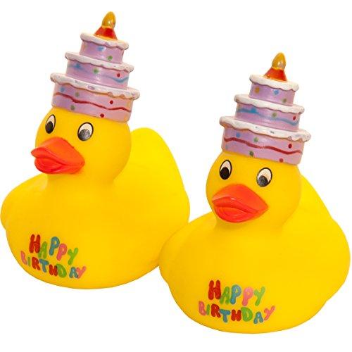 MC-Trend Happy Birthday Patito de goma pato quietscheente Cumpleaños con...