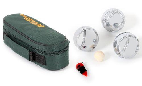 Mgm - 040021 - Sac Zip - 3 Boules 720 G Avec Un Cochonnet Et Un Mesureur