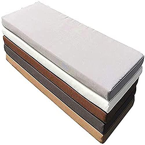 MMYing Cojín cambiador de zapatos de 5 cm de grosor, con cremallera, antideslizante, impermeable, para ventana, sofá, cocina, jardín (gris oscuro, 120 x 40 x 5 cm)