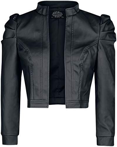 H&R London Serena Jacket Mujer Chaqueta imitación cuero Negro, , Regular