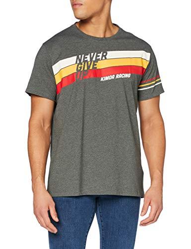 Kimoa Camiseta Never Give up, Unisex Adulto, Gris_Marengo, S