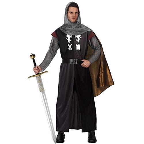 Atosa-70008 Disfraz Caballero Cruzadas, color negro, M-L (70008)