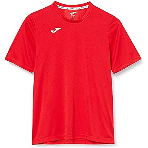 Joma Combi Camiseta Manga Corta, Hombre, Rojo (Burdeos), S