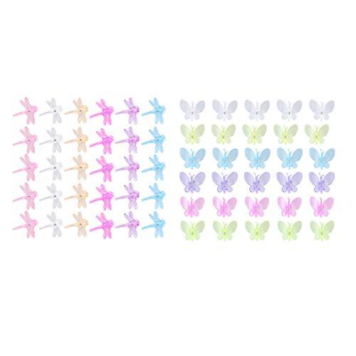 Hemoton 60 Stücke Orchideen Clips Schmetterling Libelle Orchideen Unterstützung Mini Kunststoff Klammern Unterstützung Von Stängeln Reben Gartenarbeit Zubehör Zufällige Farben