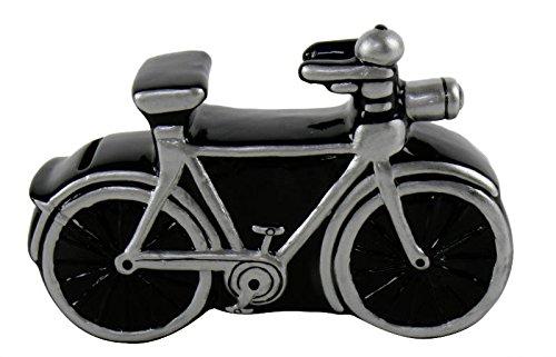Spardose Fahrrad schwarz 17cm aus Keramik