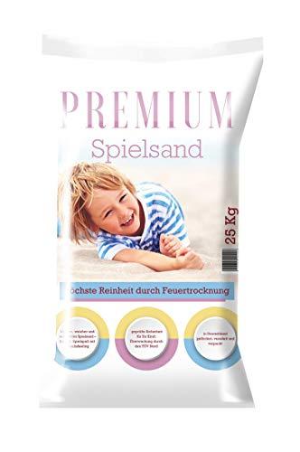NWN Spielsand Premium | 25 KG | Feinster, weicher und sehr Heller Spielsand, für den Spielspaß mit Urlaubsfeeling | Feuergetrockneter Quarzsand