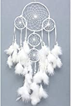 SGN Beautiful Dream Catcher Wind-Chime Decorative Showpiece - 55cm (Wool, Red)