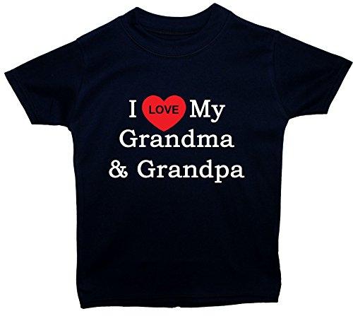 I Love My Grandma & Grandpa T-shirt pour bébé/enfants 0 à 5 ans - Bleu - petit