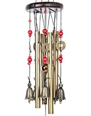 DWE Wind Chimes Bell, Chinese Metal Bell Lucky Feng Shui Bell Hanging Charm(Lucky)