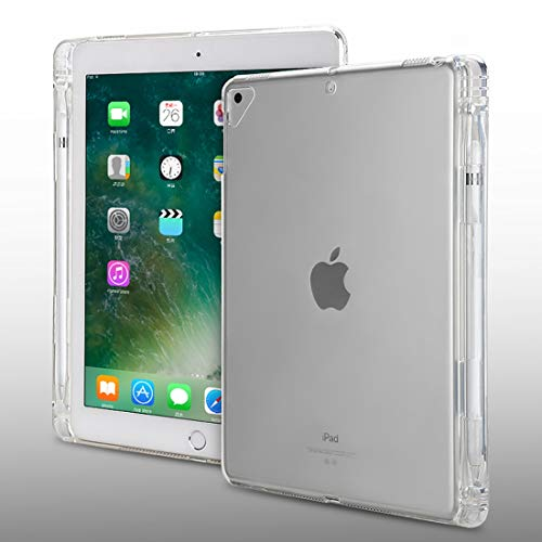 Anbel HNZZ Tablet Case Transparent TPU Soft Protective Back Cover Case for iPad Pro 9.7 inch & iPad 9.7 (2018) & iPad 5 & 6, with Pen Slots