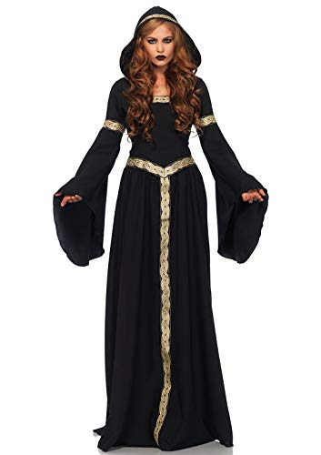 Leg Avenue- Black/Gold Pagen Witch Fancy Dress Costume (Medium/Large/UK 12-14) Mujer, Color negro, dorado, M/L (EUR 40-42) (85531)