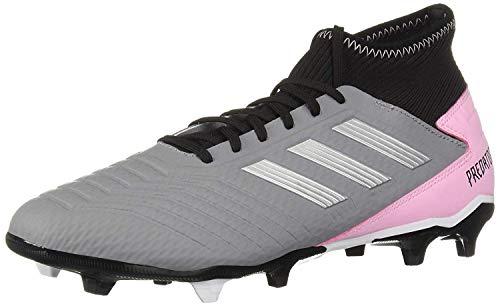 adidas Predator 19.3 Firm Ground, Grey/Silver Metallic/Black, 9 M US