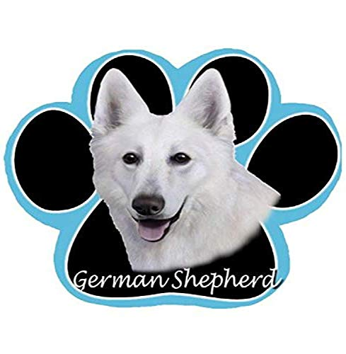 E&S Pets White German Shepherd Non Slip Paw Shaped Mouse P