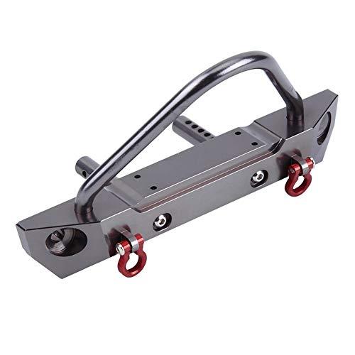 Dilwe RC Car Frontstoßstange, Aluminiumlegierung Frontstoßstange für Axial SCX10 Jeep Wrangler 1/10 Fernbedienung Crawler Auto Zubehörteile