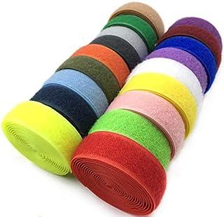 MAODING 2Metersペア粘着面ファスナーテープ縫うオンスナップナイロンスティッキーケーブルタイワイヤーストラップコード2センチメートル幅 (Color : Random Color Sale)