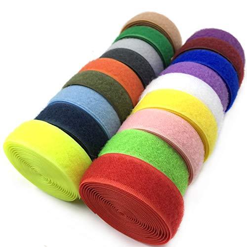 WEIYUE 2 m de cinta adhesiva de velcro para coser y coser...