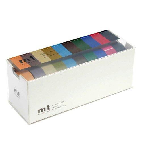 Rubans de masquage MT Washi Lot de 10, couleurs tendance (Mt10p004)