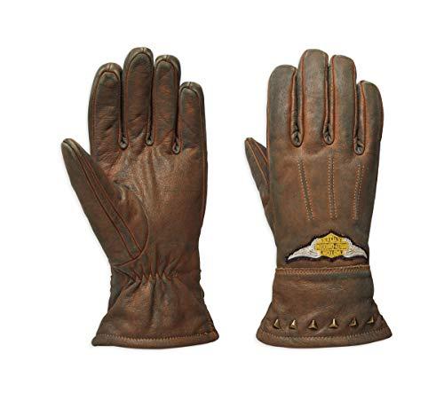 Harley-Davidson Women's Element Leather Gloves, Brown (Medium)