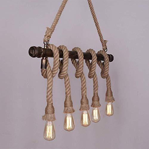 YHtech nórdico Lámpara Colgante Colgante Industrial Lámparas de cáñamo Cuerda de la Vendimia Pendiente de la luz AC90-260V E27 Loft de la Personalidad Creativa de Restaurante Café Bar