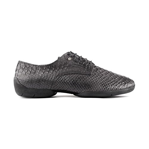 PortDance Herren Sneakers/Dance Sneakers PD Salsa 001 - Leder Dunkelgrau - Sneaker Sohle [EUR 44]